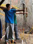 Hampstead Middle School seventh grader Shane Gusoki uses the Camp Lincoln archery range. Photo by Penny Williams