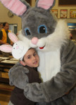 Turner Shorb, 5, gets a hug from the Easter Bunny at the annual Easter Bunny Breakfast hosted by the Hampstead Lions at Hampstead Central School.