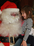 At Sandown Town Hall, Ivy Fournier got a chance to share with Santa some early ideas on what she was looking for this Christmas.
