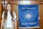 Skyler Eno earned her Girl Scout Silver Award in August but it was presented to her by Governor Maggie Hassan Nov. 16 at a ceremony at Phillips Exeter Academy. Courtesy photo