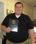 Trevor Renaud was awarded Rookie of the Year during the Chester Firefighter Association's annual appreciation dinner. Courtesy photo